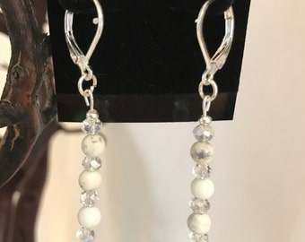 Howlite Bead Earrings