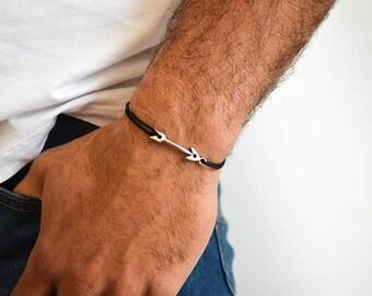 Arrow Bracelet Men, Silver Bracelet, Men's Bracelet, Handmade Bracelet, Men's Jewelry, Gift for Him by Christina Christi Jewels.