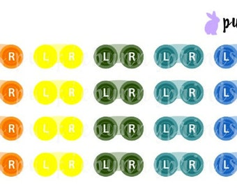 Rainbow Contacts Icons // Planner Stickers!