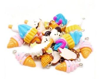 resin pendants 5 sweets kawaii