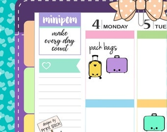 Suitcase Planner Stickers - Travel Stickers for your Erin Condren, Happy Planner & any other planner!