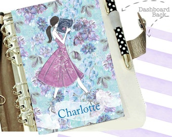 PERSONALIZED Planner Dashboard, Girl Reading, A5 Dashboard, Personal Size Planner Dashboard, Book Gift, Planner Divider, Glam Planner, Gift