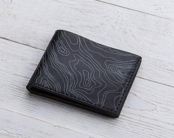 Mens Bifold, Personalized Wallet, Minimalist Wallet, Printed Wallet, Mens Wallet, Bifold, Engraved Mens Wallet, Black Leather Wallet, Wallet