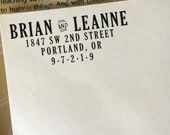 Return Address Stamp, Custom Address Stamp, Return Address Stamp Self Ink, Wooden Stamp, Personalized Address Stamp, Wedding Address Stamp