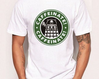 Doctor Who Inspired Dalek Caffeinate Coffee T Shirt