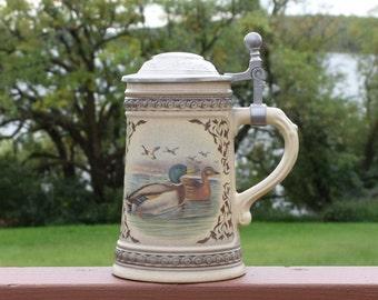 Vintage German Beer Stein / Ceramic mug/ Barware/ Alwe Beer stein