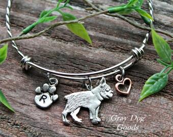Boston Terrier Bracelet, Boston Terrier Jewelry