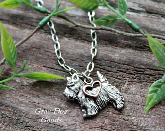 Scottie Necklace, Scottie Jewelry, Scottish Terrier
