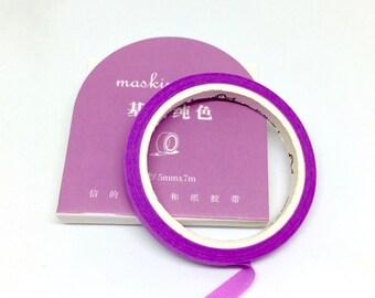 Purple Slim Washi Tape - Masking Tape Thin Pink Mauve