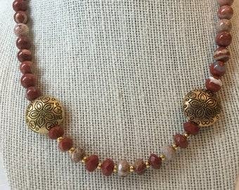 Necklace made with red Jasper
