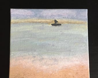 Beach Original Acrylic Mini Painting