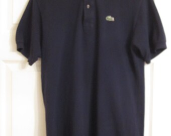Lacoste dark blue polo shirt size 4. 1980