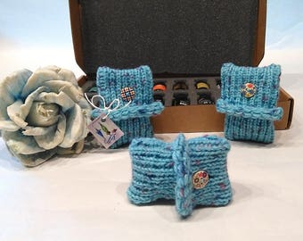 Set 3 Scented bags, sachets, Scent drawers, Air scent, air freshener + PURE & NATURAL essential oil 0.38uk fl oz, blue