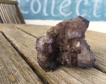 Purple Fluorite Crystal Cluster - Illinois