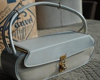 1950 cream handbag