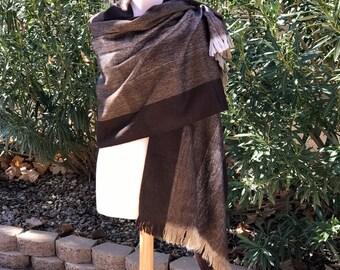 Mexican fine Rebozo Hair-fuzzy cotton rebozo Handwoven rebozo Mexican shawl Made in Chiapas Mexico Bohemian clothing Mexican poncho