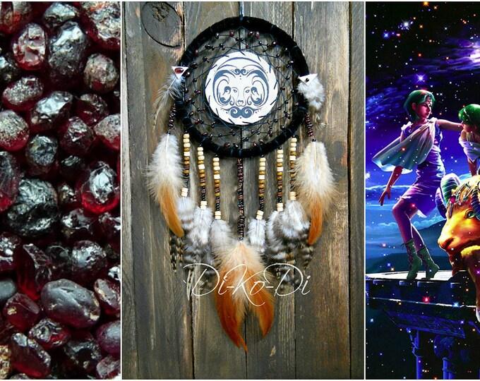 Dreamcatcher zodiac dreamcatcher aries Boho dream catcher Zodiac necklace Dreamcatcher wall family zodiac personalized zodiac hippie dream