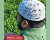 MTO Adult Classic Triangle Filet Kufi Topee Topi Prayer Cap Islamic Islam Muslim Eid Ramadan