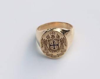 Jerusalem Cross Ring Etsy