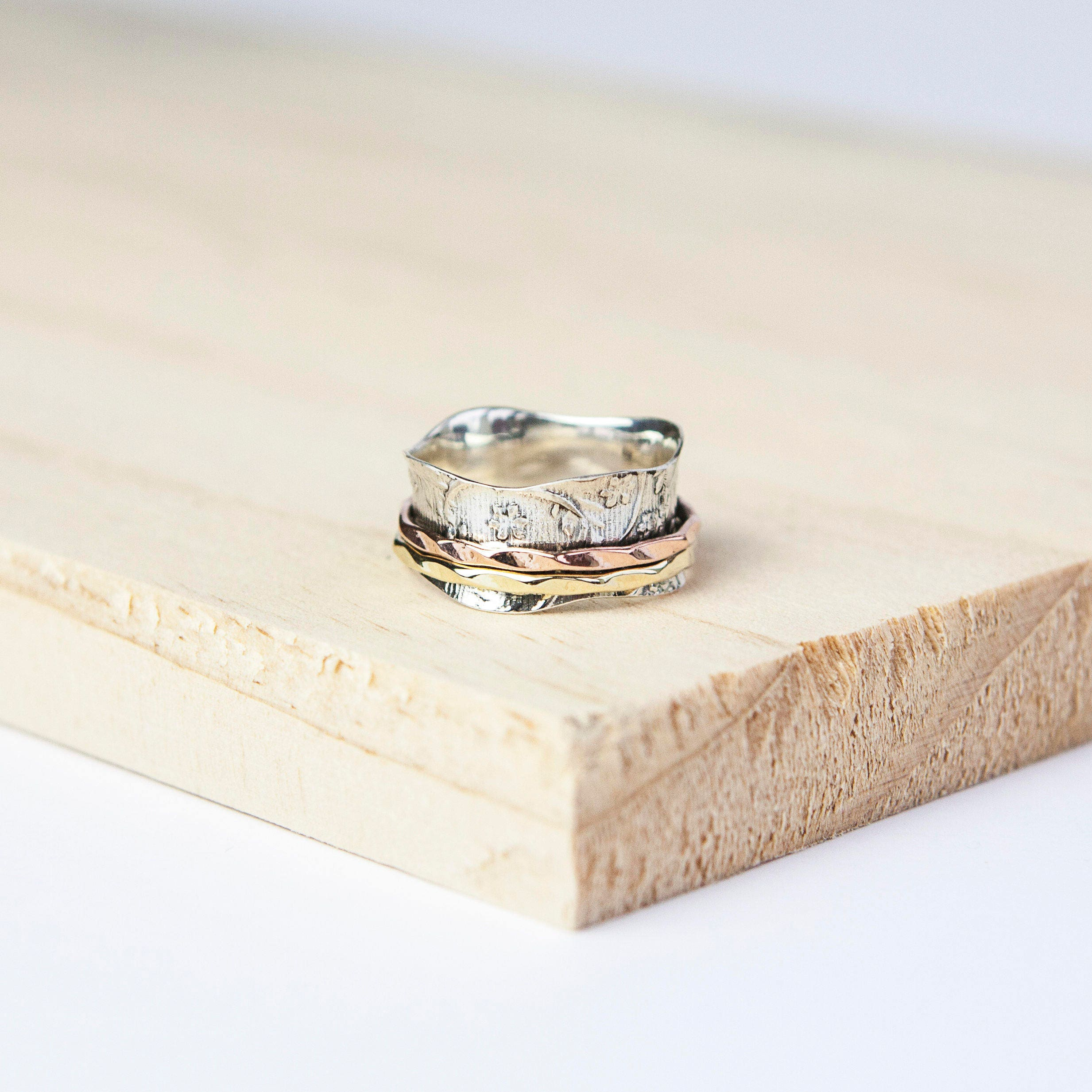 Personalised Lucy Spinning Ring Spinner Ring Worry Ring