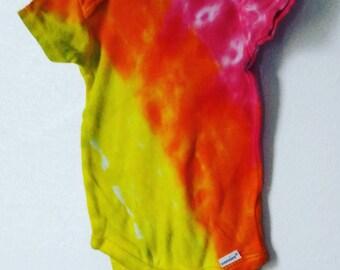 Warm Angle Tie Dye Baby Onesie