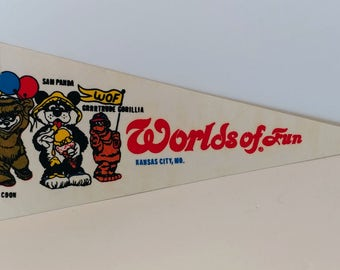 Worlds of Fun, Kansas City, Missouri - Vintage Pennant