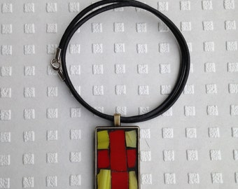 Mosaic Cross Necklace/Mosaic Cross Pendant/Mosaic Necklace/Stained Glass Mosaic Necklace/Mosaic Jewelry/Religious Jewery/BoHo Necklace/P83
