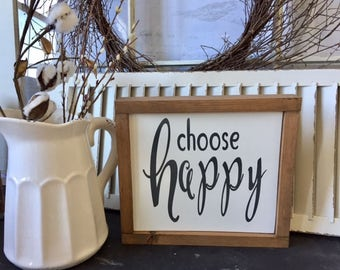 CHOOSE HAPPY, Choose Joy, Farmhouse Style Sign, Choose Happiness, Inspirational Signs, Gallery Wall, Inspirational Wood Signs