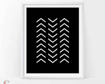 Black and white prints, Arrow wall decor, Black and white printable, Arrow wall art, Black and white wall art, Arrow sign, black home decor