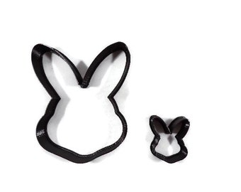 Easter Bunny Cookie Cutter - Easter Bunny Head Fondant Cutter - Rabbit Head Cupcake Topper - Easter Cookie Cutters