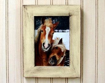 Handmade Picture Beige Brown White 5x7 Cottage Chic,Country Decor (WB164)