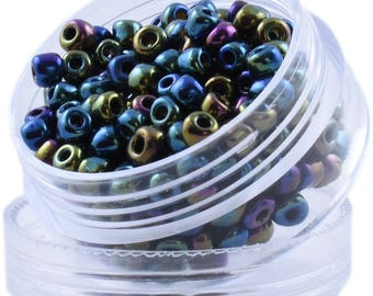 Color: Rainbow Pebble - Round of Beads from Bead dot Deals