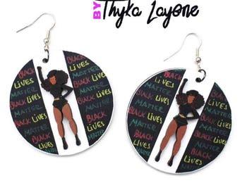 Training earrings Black Lives Matter Beyonce Black afro earrings - earrings Black lives matter Beyonce