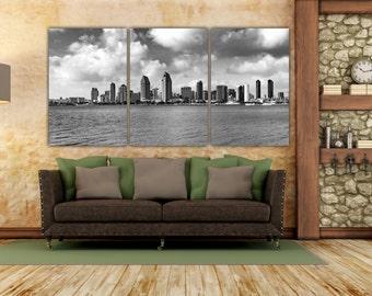 Southern California, San Diego, San Diego Wall Art, San Diego Skyline, San Diego Art, California, California Wall Art, California Decor