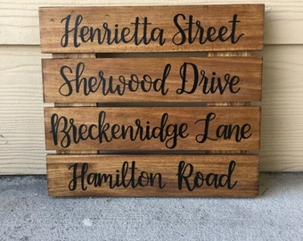 Custom Wood Sign | Personalized Wood Sign | Street Name Sign | Home Sign | Hand Lettered