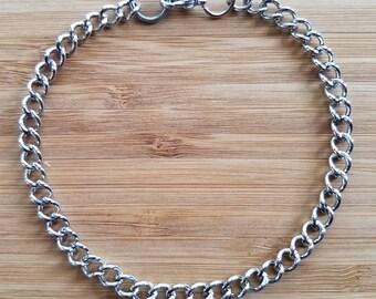 Silver Chain Bracelet for Men, Silver Chain Bracelet, Men's Chain Bracelet, Man's Silver Bracelet, Men's Bracelet, Man's Chain Bracelet
