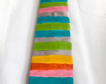Hand painted necktie