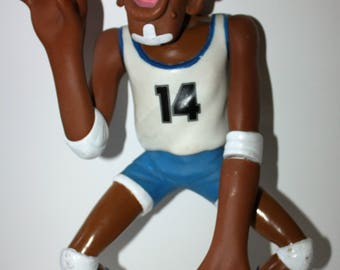 "SPORTSFREAKS Basketball Player 15"" Action Figure HG Toys 1986"