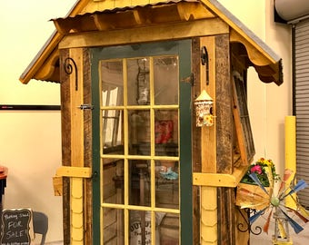 Potting shed from reclaimed materials