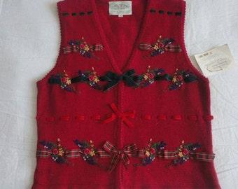 UNWORN Susan Bristol Christmas Vest Size M