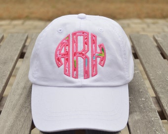Monogrammed hat, Applique Monogrammed hat, Applique Monogram, Monogrammed baseball cap, Womens Hat, Adams Hat,