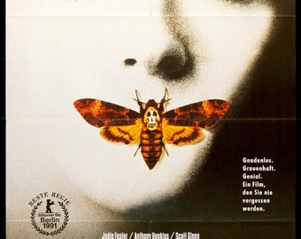 """Silence of the Lambs (1991) Vintage German Poster - 33"""" x 47"""""""