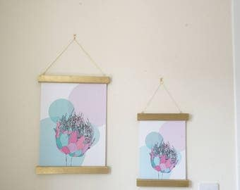 Protea Pastel Circles Print