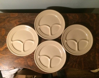 Buffalo Restaurant Ware Section Plates - Set of FOUR
