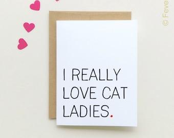 Cat Lady Card | Cat ladies | I love Cat ladies | Cat People | Cat Lovers | Cat Card |  Crazy Cat Lady Card |