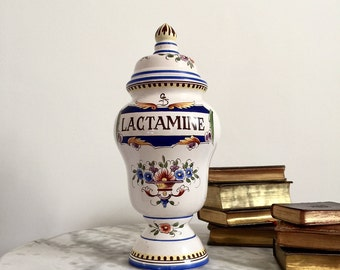 Antique French Apothecary Jar, a Magnificent and Rare Large Pharmaceutical Pot, 19th Century