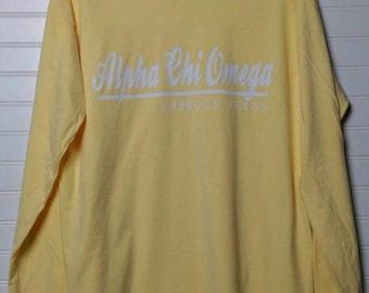 Alpha Chi Omega 118 City Shirt Comfort Color TShirt, Short Sleeve or Long Sleeve