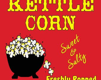 Kettle Corn Sign- Concession Sign