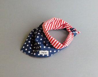 Patriotic dog bandana summer 4th of july dog bandana boy Fourth of july Independence day American flag Pet gift idea Labor day