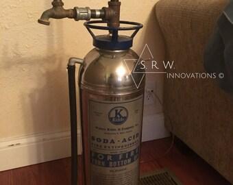 Creative Steampunk Inspired Fire Extinguisher Floor Lamp - Steampunk Lighting - Edison Bulb - Industrial Lighting - Steampunk Lamp - Lamp